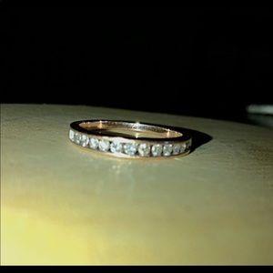 10k Rose Gold 1/2 carat Genuine Diamond Ring